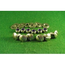 6  slot head screws for front guard +nyloc nuts